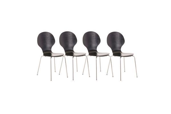 Set van 4 stapelstoelen Diego
