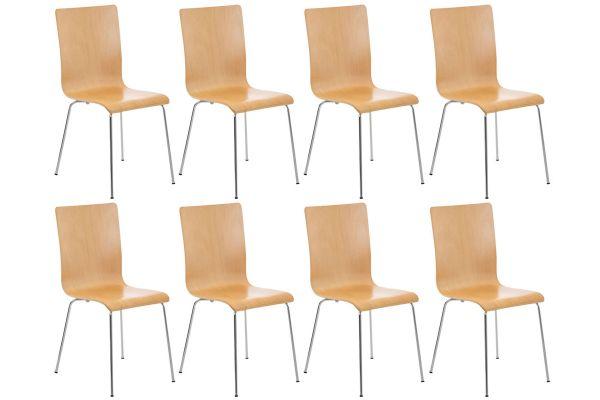 Set van 8 Pepe bezoekersstoelen