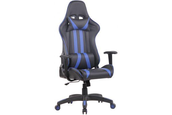 Bürostuhl Kano Kunstleder schwarz/blau