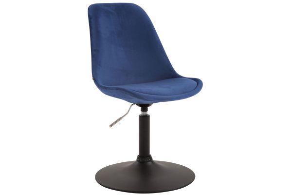Esszimmerstuhl Maverick Samt schwarz blau