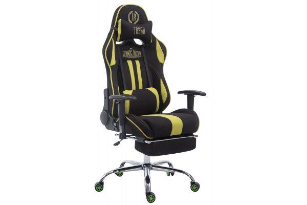 Racing Bürostuhl Limit Stoff mit Fußablage  schwarz/grün