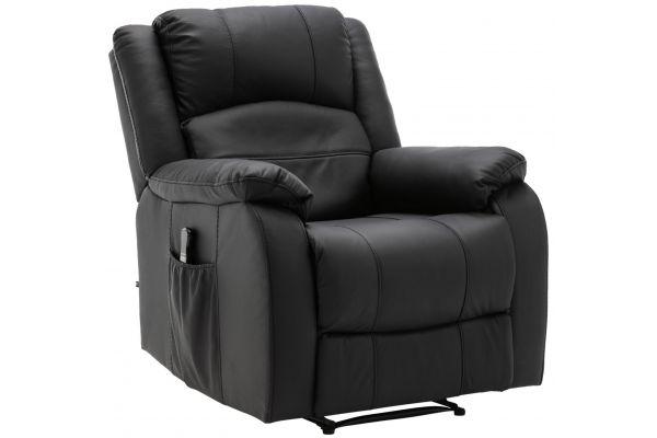 Sessel Kerpen mit Massagefunktion Kunstleder schwarz