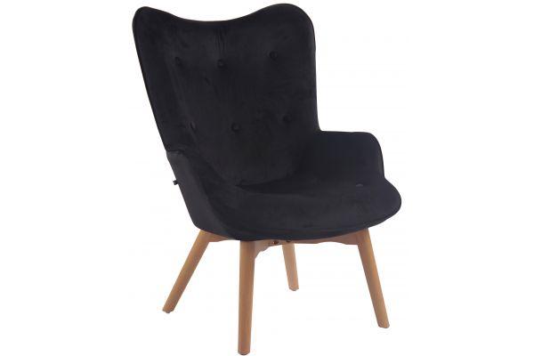 Stuhl Duke Stoff schwarz